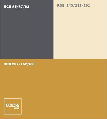 Tabella abbinamento marrone oro - COLOREPURO.IT
