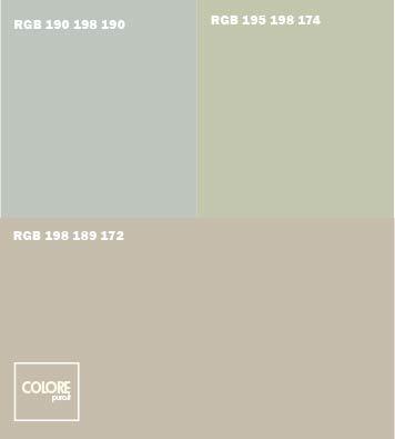 abbinamento grigio azzurro chiaro verde chiaro