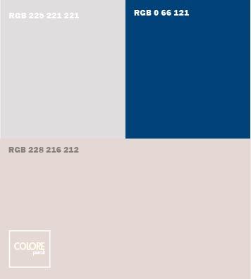 Abbinamento grigio caldo grigio freddo blu