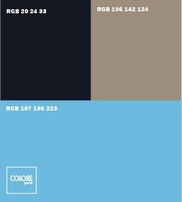 Abbinamento azzurro blu nero grigio