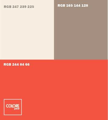 Abbinamento rosso grigio grigio rosa