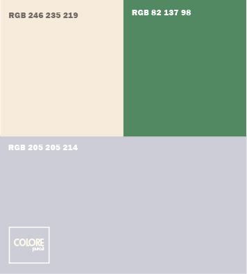 Abbinamento colori  grigio freddo   verde   giallo crema chiaro