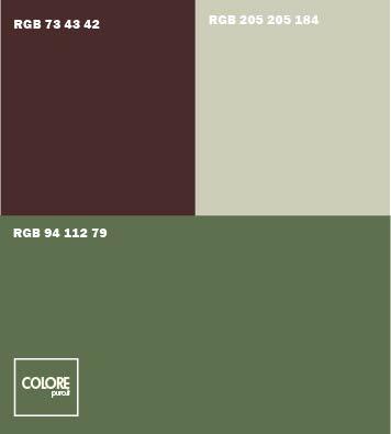 Abbinamento colori verde marrone grigio