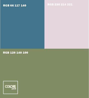 Abbinamento colori verde salvia grigio azzurro freddo