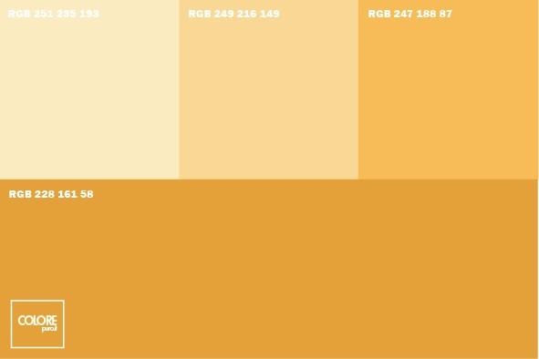 Abbinamento diverse tonalità di giallo