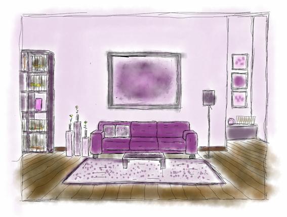 Schema monocromatico viola disegno