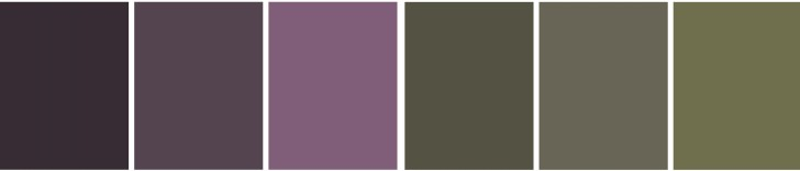Schema colori per ambiente con atmosfera raccolta