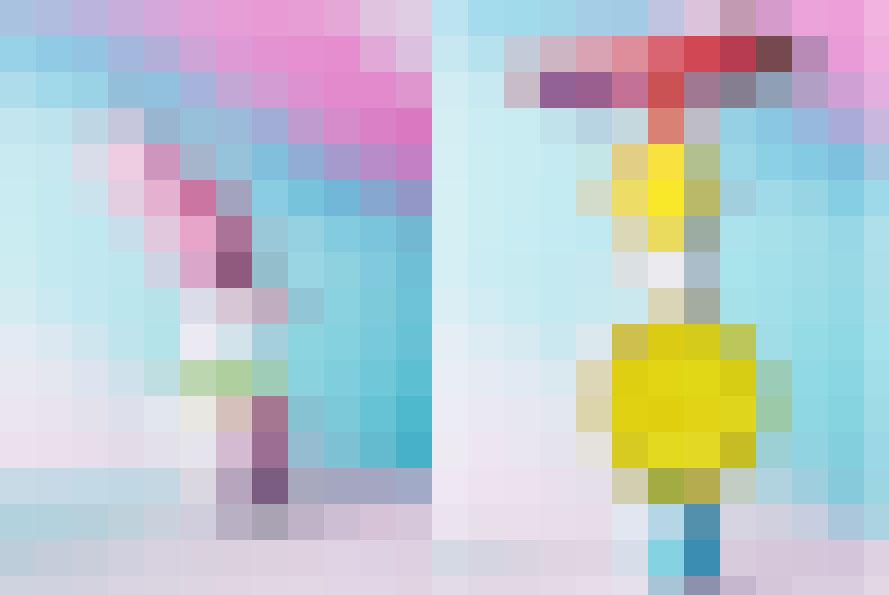 Abbinamenti di colore pop per una composizione di frutta insolita