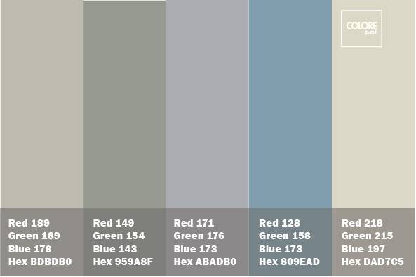 abbinamento grigio azzurro viola