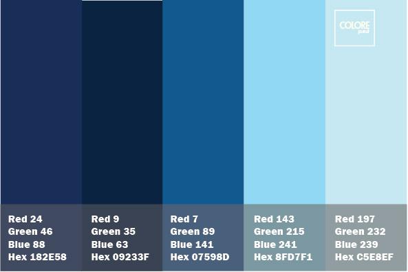 combinazione di blu e azzurri