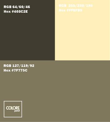 Tabella 3 colori grigio marrone crema