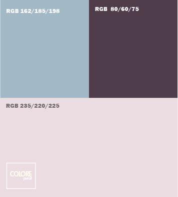 Abbinamento colore  viola chiaro