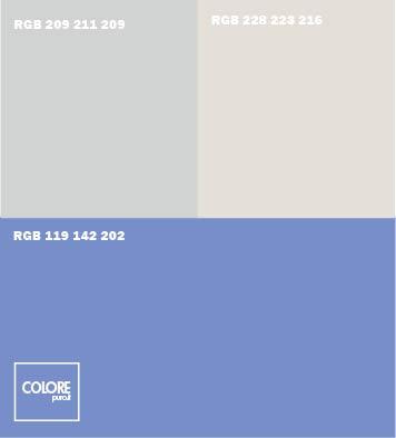 Abbinamento colori azzurro viola grigio freddo bianco freddo