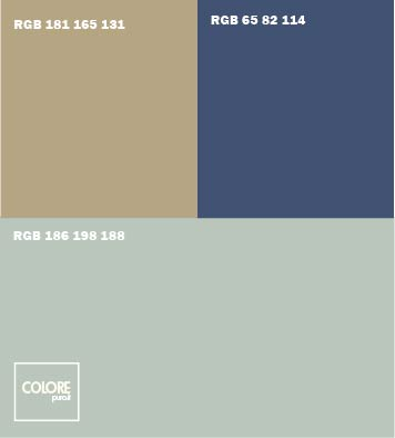 Abbinamento colori grigio beigeblu