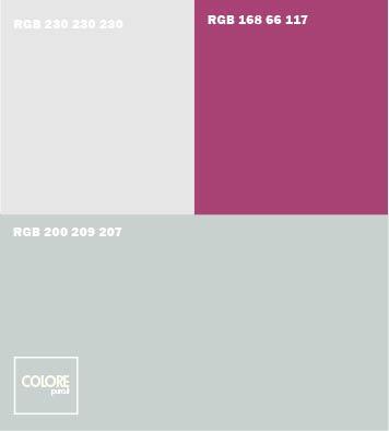 Abbinamento colori grigio freddo grigio viola