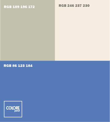 Tabella abbinamento colori blu grigio bianco caldo