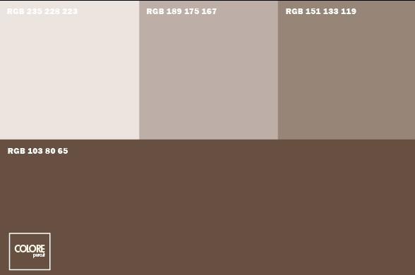 Abbinamento diverse tonalità di marrone