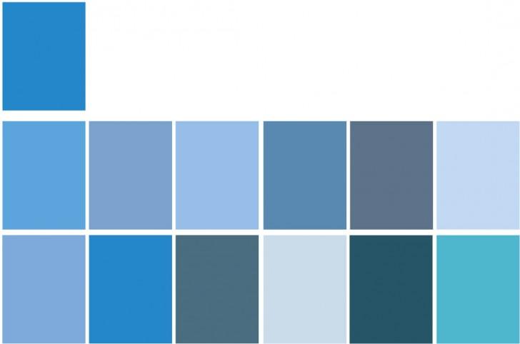 Tabella Azzurra Schema Monocromatico
