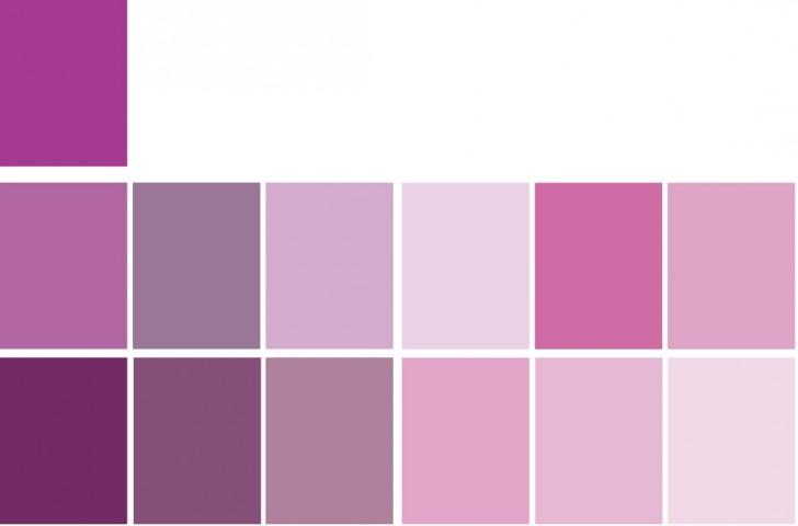 Tabella colori viola per schema colore monocromatico